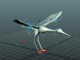 Crane Bird Rig 3d model preview