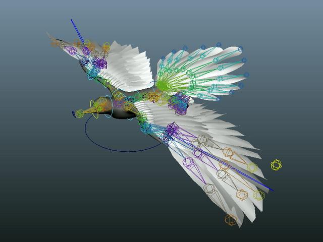 Flying Bird Rig 3d Model Maya Files Free Download