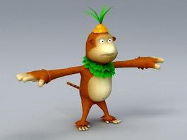 Cartoon Monkey 3d model preview