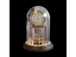 Vintage Mantel Clock 3d preview