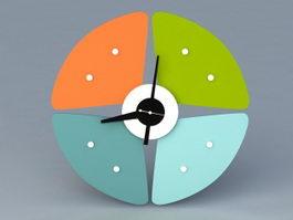 Petal Clock 3d model preview