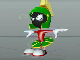 Marvin the Martian Rig 3d model preview