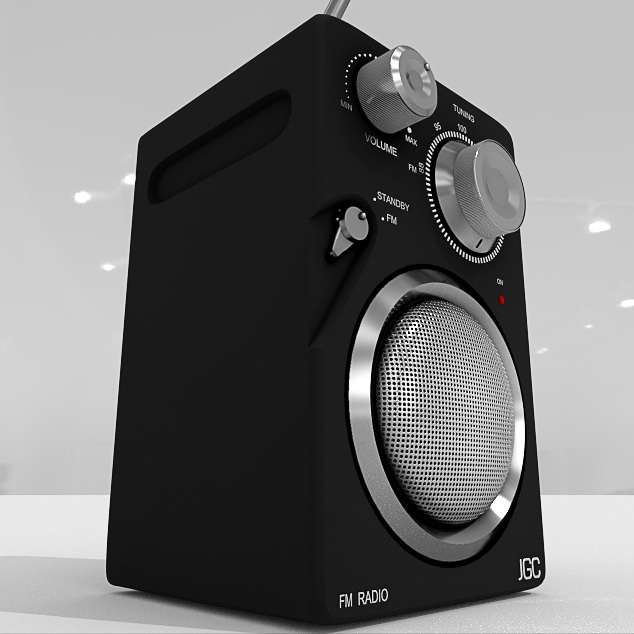 Portable Speaker with Radio 3d rendering