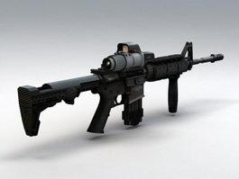M4 Carbine Assault Rifle 3d model preview