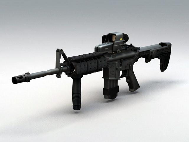 M4 Carbine Assault Rifle 3d rendering