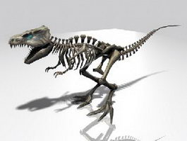T-Rex Skeleton 3d preview