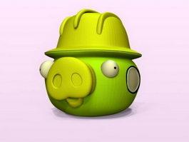 Funny Pig Cartoon 3d model preview
