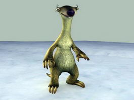 Ice Age Sid 3d preview