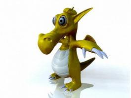 Cute Cartoon Dragon 3d model preview