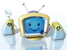 Cartoon Tv 3d preview
