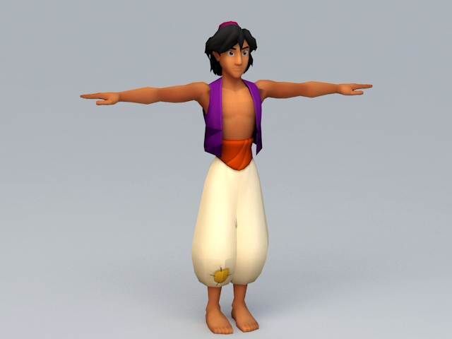 Disney Aladdin Character 3d rendering