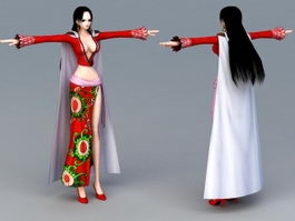 Ancient Asian Woman 3d preview