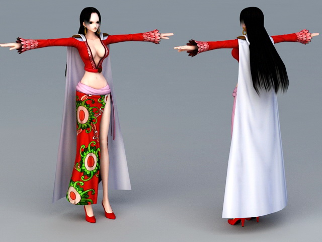 Ancient Asian Woman 3d rendering