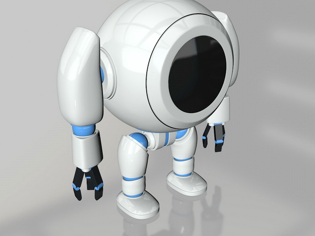 Cute Robot 3d rendering