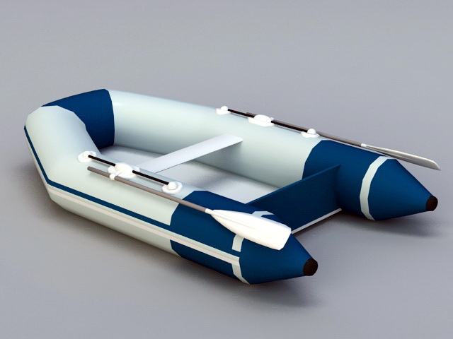 Rubber Inflatable Boat 3d rendering
