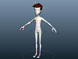 Cartoon Boy Rig 3d preview