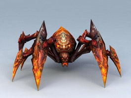 Lava Spider 3d preview