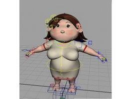 Fat Aunt Rig 3d model preview