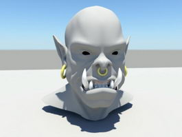Orc Head 3d preview
