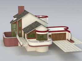 Modern Country House 3d preview