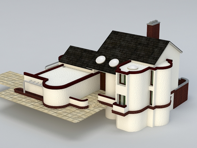 Modern Country House 3d rendering