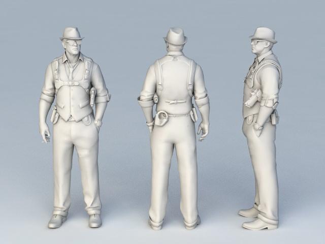 FBI G-Man 3d rendering