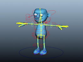 Blue Human Rig 3d preview