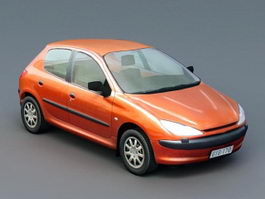 Orange Hatchback 3d preview