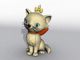 Cute Cartoon Cat 3d model preview