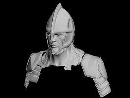 Roman Soldier Head 3d preview