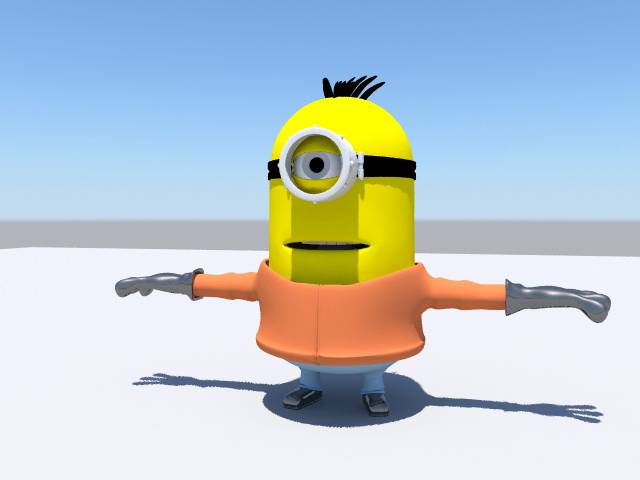 Despicable Me Minion 3d rendering