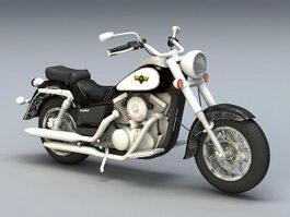 Kawasaki Cruiser Motorcycle 3d preview