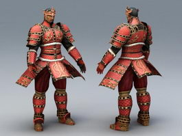 Ancient Korean Warrior 3d preview