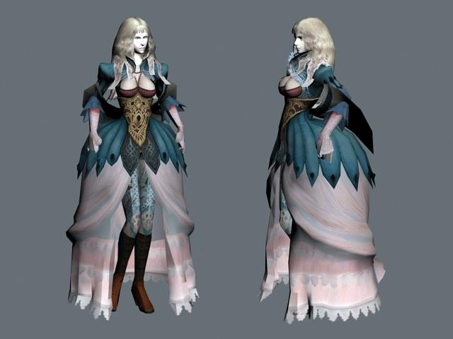 Medieval Noblewoman 3d rendering