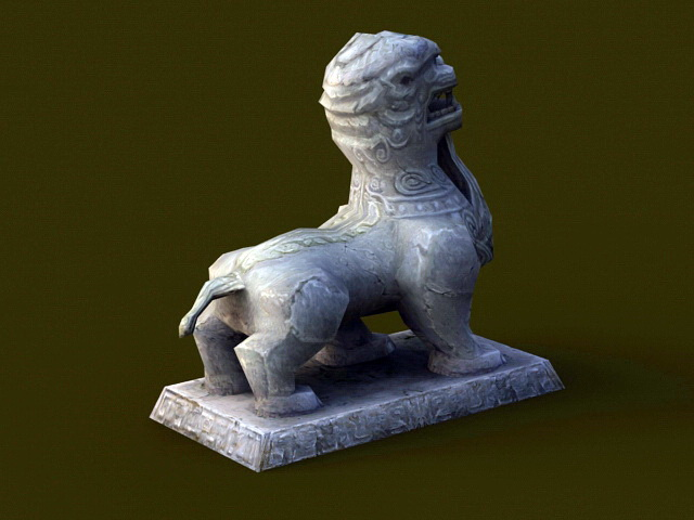 Ancient Stone Beast 3d rendering