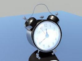 Black Alarm Clock 3d model preview