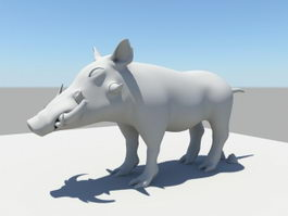 African Boar 3d preview