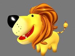 Cute Cartoon Lion 3d model preview