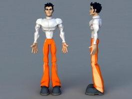 Cartoon Man Character 3d model preview