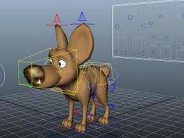 Cartoon Dog Rig 3d preview