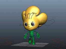 Flower Person Rig 3d preview