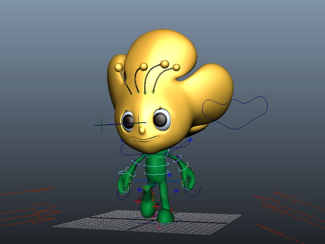 Flower Person Rig 3d rendering