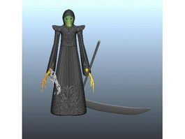 Death with Scythe 3d preview