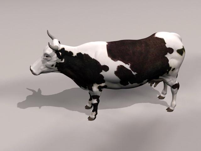 Dairy Cow 3d rendering