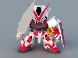 Gundam Astray Red Frame 3d preview