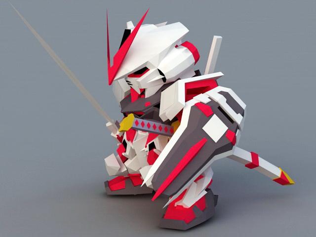 Gundam Astray Red Frame 3d rendering
