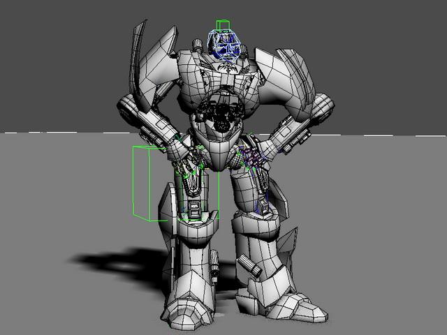 Robot Warrior Rig 3d rendering
