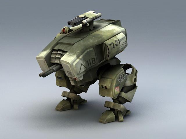 Mech Walker 3d rendering