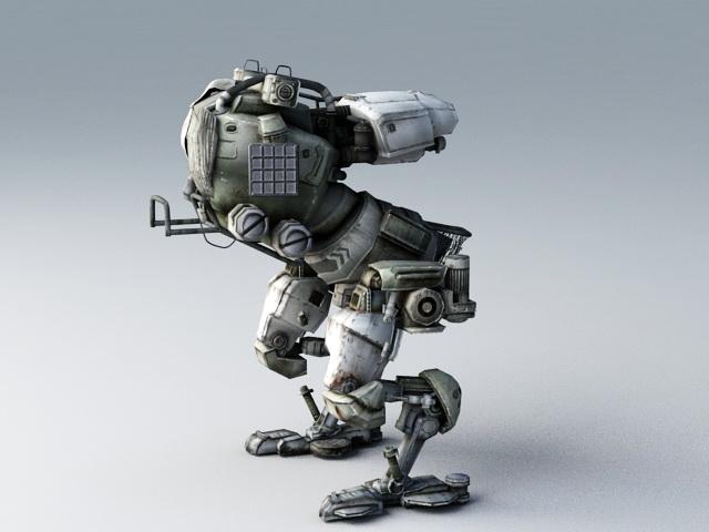 Robot Mech Walker Rig 3d rendering