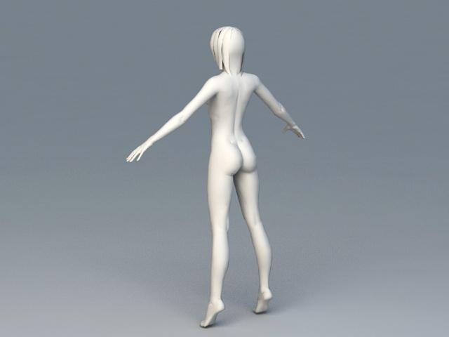 Female Body 3d rendering